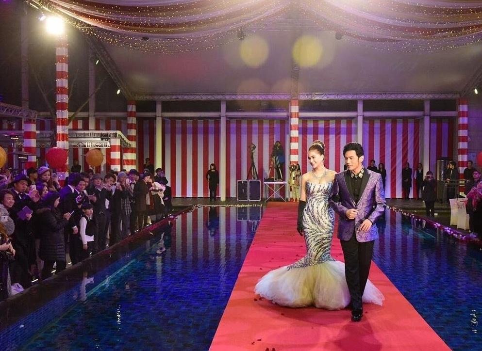 Tiệc cưới tại Đài Loan của Châu Kiệt Luân và Hannah được trang hoàng như một rạp xiếc ngoài trời.