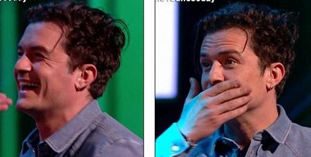 Gương mặt phấn khởi của Orlando Bloom sau khi hôn David