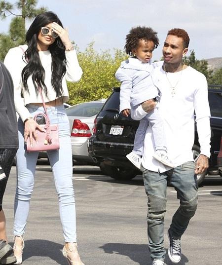 Cô em gái Kylie của Kim đi cùng với bạn trai tin đồn - Tygo.