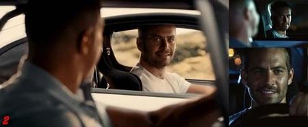 Cảnh mạo hiểm vật lộn trên xe ô tô tải của nhân vật Brian được em trai Caleb của Paul đảm nhiệm.