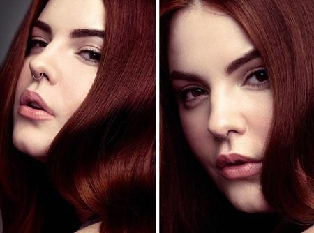 Một số hình ảnh của Tess trong buổi chụp hình đầu tiên.