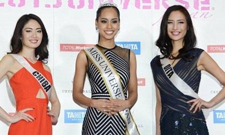 Hoa hậu Nhật Bản năm 2015 - Ariana Miyamoto có mẹ là người Nhật và cha là người Mỹ gốc Phi.