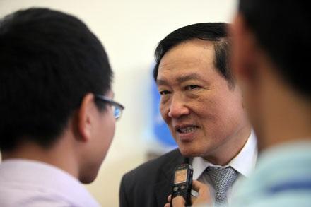Viện trưởng VKSND tối cao Nguyễn Hòa Bình (ảnh: Việt Hưng).