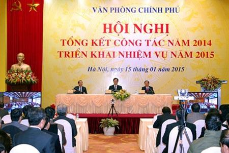 Thủ tướng Nguyễn Tấn Dũng, Phó Thủ tướng Vũ Văn Ninh, Bộ trưởng Nguyễn Văn Nên chủ trì hội nghị.