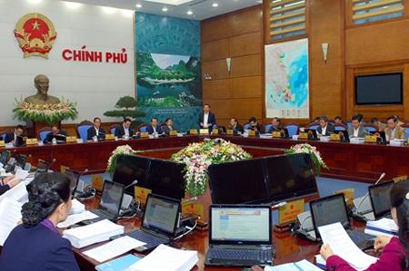 Phiên họp chốt năm 2014 của Chính phủ.