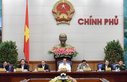Thủ tướng chủ trì phiên họp của Thường trực Chính phủ tổng kết tình hình Tết (ảnh: Chinhphu.vn).