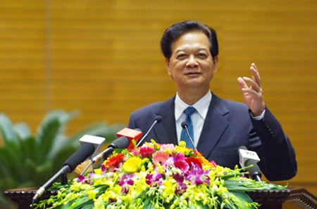 Thủ tướng Nguyễn Tấn Dũng phát biểu chỉ đạo hoạt động của Bộ Quốc phòng trong năm mới 2015.