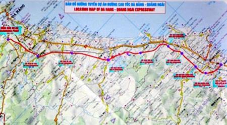 Cao tốc Đà Nẵng - Quảng Ngãi có chiều dài 140km, thiết kế 4 làn đường với tốc độ chạy xe 120km/h.