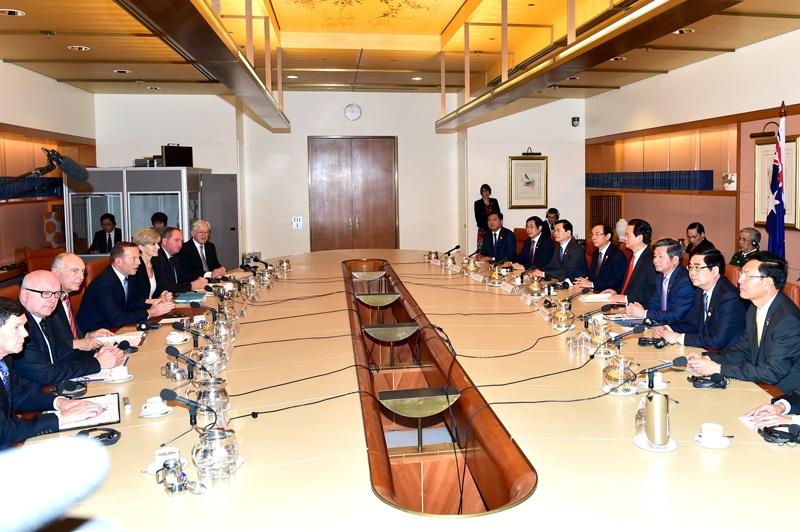 2 Thủ tướng chủ trì cuộc hội đàm cấp caogiữa2 nước.