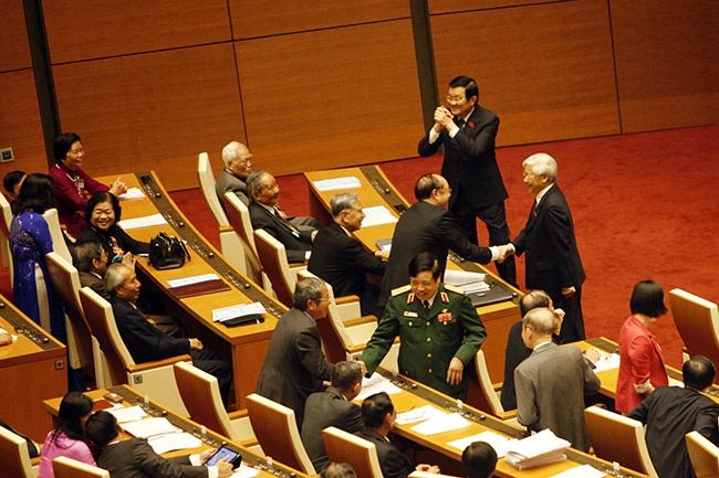 Phòng họp Diên Hồng trong lần thứ 2 đón các đại biểu Quốc hội tề tựu.