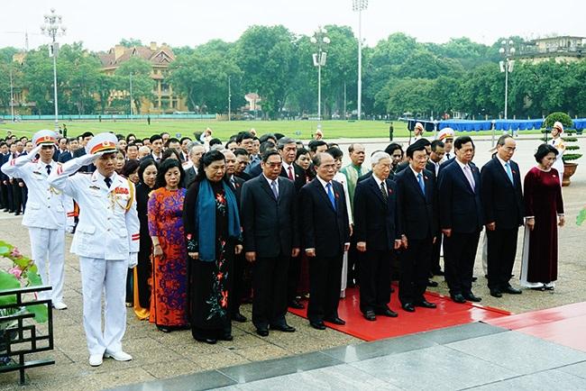 Nghi thức trang trọng được tổ chức trước mỗi kỳ họp Quốc hội.