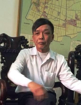 Ông Nguyễn Hồng Niên - Chủ tịch UBND xã Kim Thái làm việc với PV Dân trí chiều ngày 26/1.