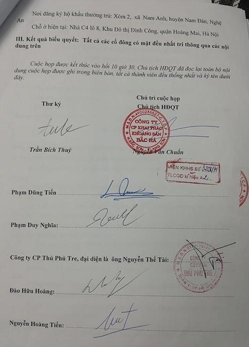 """Đề nghị làm rõ tố cáo 200.000 cổ phần bị """"sang tên đổi chủ"""" bất thường tại Công ty Khoáng sản Bắc Hà"""