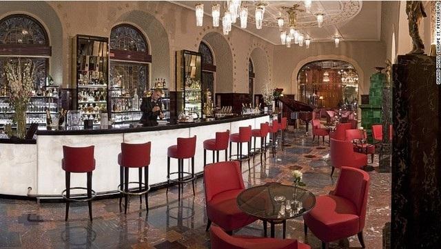 Quán bar Caviar ở khách sạn Grand Hotel Europe (St. Petersburg, Nga)