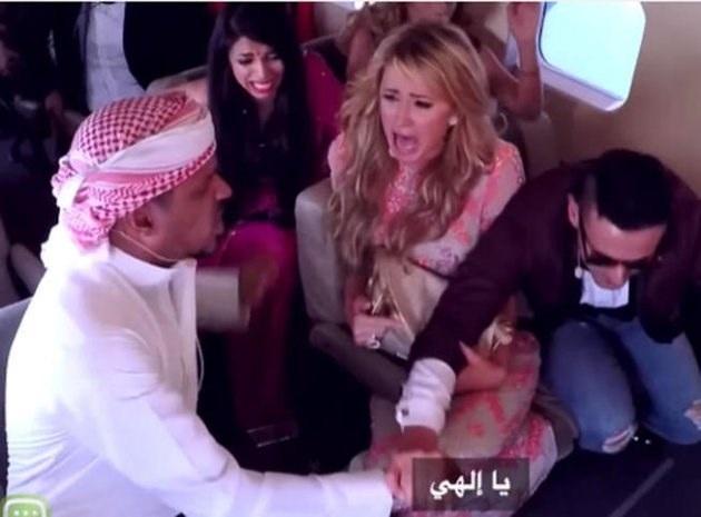 Paris Hilton xuất hiện hoảng loạn trên truyền hình Ai Cập (Nguồn: Yahoo).