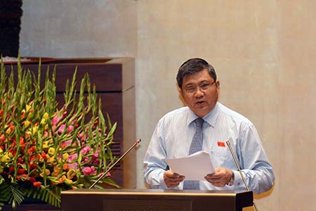 Chủ nhiệm UB Kinh tế của Quốc hội Nguyễn Văn Giàu (Ảnh: Minh Thanh)