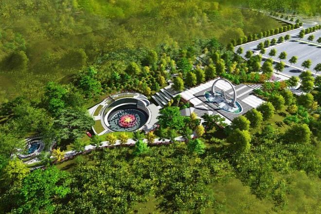Phối cảnh tổng thể công trình khu tưởng niệm các chiến sĩ Gạc Ma.