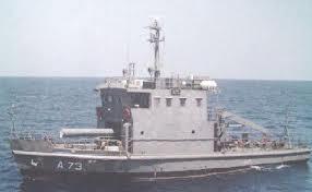 Một trong những tàu tìm kiếm ngư lôi của Hải quân Ấn Độ.