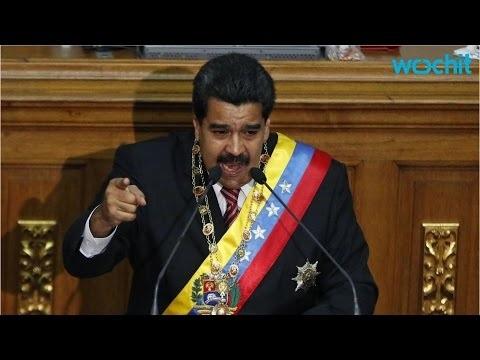 Tổng thống Maduro phát biểu tại Quốc hội sau khi được trao quyền đặc biệt (Ảnh: