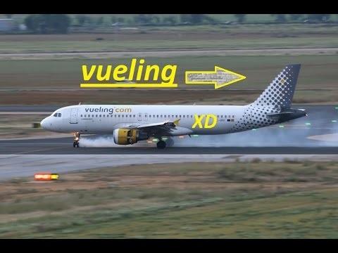 Phi công đang thực hiện cú hạ cánh khẩn cấp xuống sân bay El Prat (Ảnh: