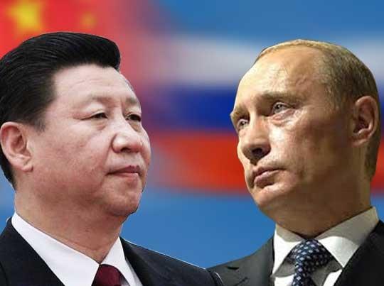 Nga và Trung Quốc ngày càng có xu hướng xích lại gần nhau để đối phó với Mỹ (Ảnh:
