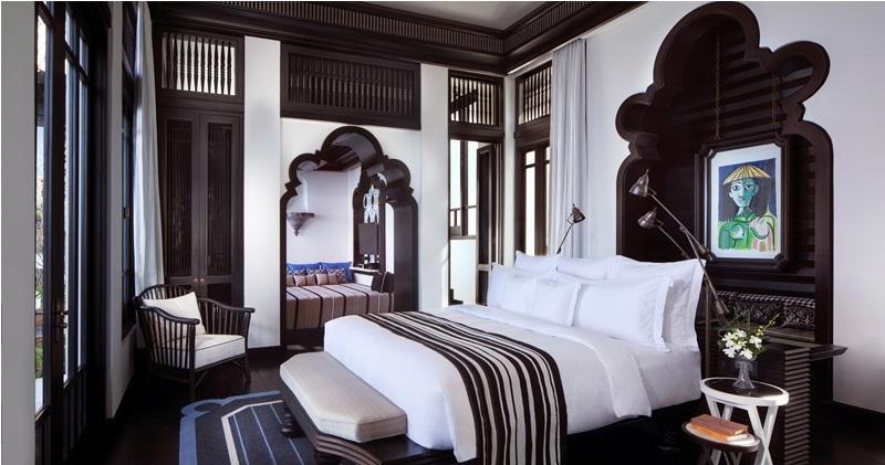 Một góc phòng ngủ của căn Royal Residence