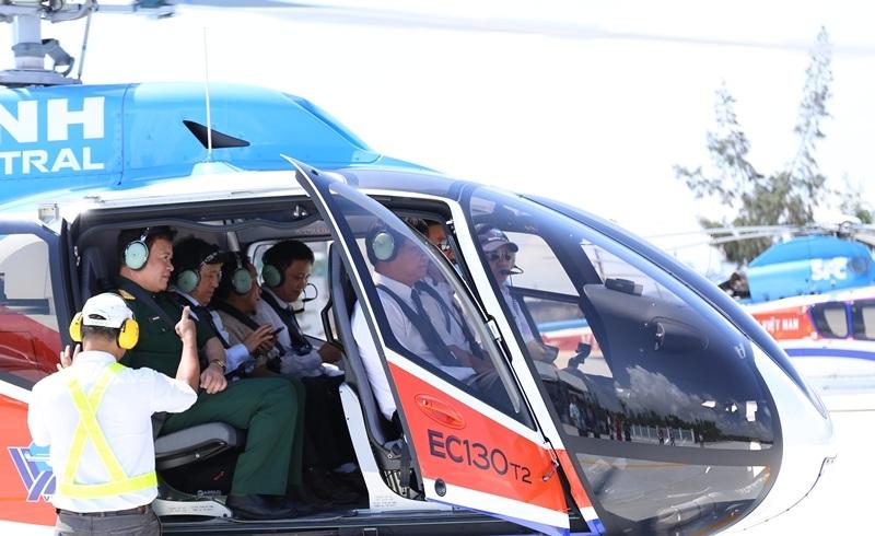 Tour du lịch Đà Nẵng bằng trực thăng vừa khai trương ngày 24/4 tại Sân bay Nước Mặn (Đà Nẵng)