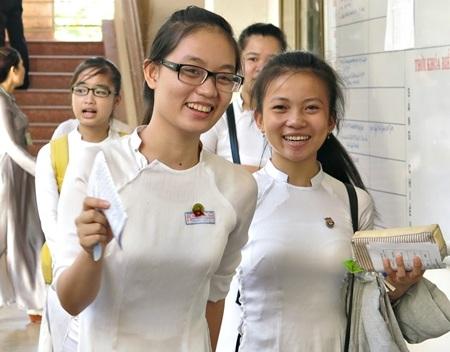 Thí sinh thi tốt nghiệp THPT tại Đà Nẵng năm 2014.