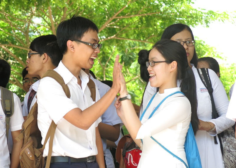 Thí sinh dự kỳ thi tốt nghiệp THPT 2014 tại Đà Nẵng