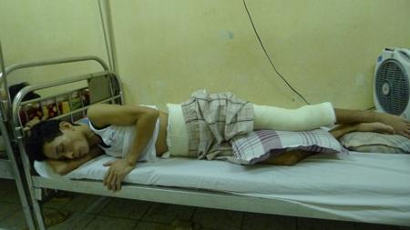 Bị tổn thương quá nặng nề nên anh Hải vẫn đang phải điều trị tại bệnh viện 108