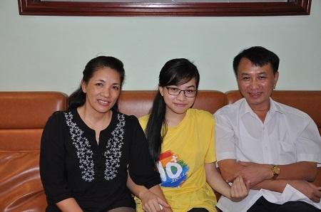 Bố mẹ ở Bắc Ninh, hiện Thảo Vân đang sống cùng gia đình bác ruột ở Hà Nội.