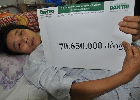 Số tiền được trích từ 70.650.000 đồng của bạn đọc Dân trí giúp đỡ cô tuần 1/11.