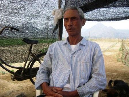 Ông Hoàng Văn Huê, người trồng và lưu giữ giống dưa hấu đặc sản của vùng đất Nga Sơn.