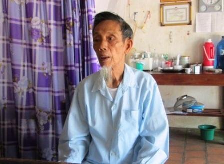 Cụ Nguyễn Văn Mơi, một trong những người tham gia đúc tượng Bác Hồ bằng đồng đầu tiên.