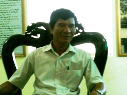 Ông Nguyễn Ngọc Hiên, Giám đốc Trung tâm bồi dưỡng chính trị huyện Quảng Xương.
