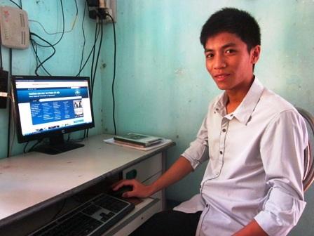 Em Nguyễn Hữu Thăng, thủ khoa của Học viện Bưu chính viễn thông với số điểm 26,75.
