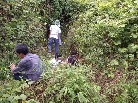 Người dân lùng sục lên tận ngọn núi và các hang hốc để tìm thuốc trừ sâu.
