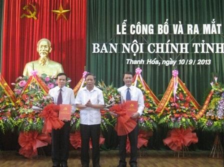 Lễ ra mắt Ban Nội chính Tỉnh ủy Thanh Hóa.