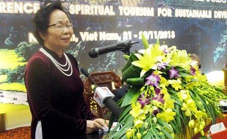 Phó chủ tịch nước phát biểu tại Hội Nghị.