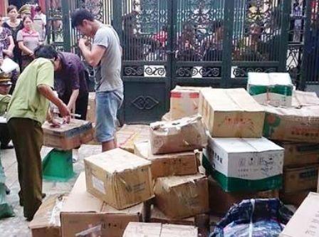 Lô hàng được cơ quan chức năng phát hiện và bắt giữ.