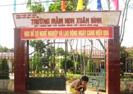 Trường mầm nọ Xuân Bình vi phạm trong quá trình thu các khoản đóng góp đầu năm học.