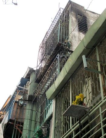 Căn nhà sau vụ hỏa hoạn