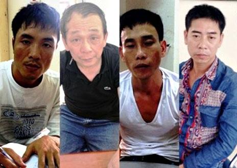 Một băng nhóm giang hồ vừa tham gia vụ đòi nợ thuê cho một doanh nhân giấu mặt bị bắt giữ