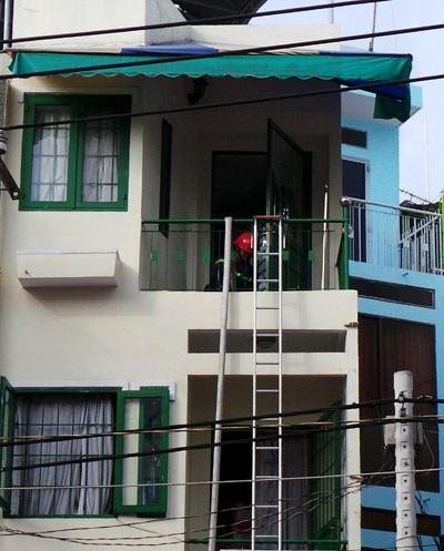 Căn phòng nơi bé Hương bị khói lửa bao vây
