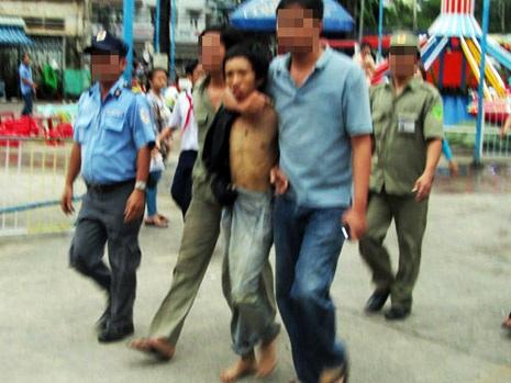 Nghi can giết người Nguyễn Quang Mạnh bị bắt ngay sau khi vừa gây án