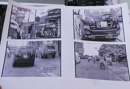 Hình ảnh và thông tin về việc xe của ông Hải dừng đỗ tại nơi có biển cấm