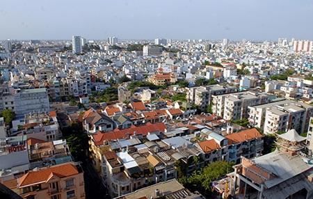Một góc thành phố nhìn từ trên cao