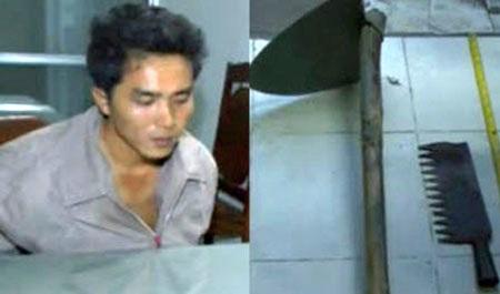 Phan Văn Mạnh và những hung khí đã sử dụng trong cơn phê thuốc