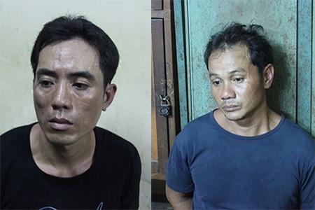 Hai đối tượng mang theo ma tuý, mã tấu đi dạo phố bị công an bắt giữ