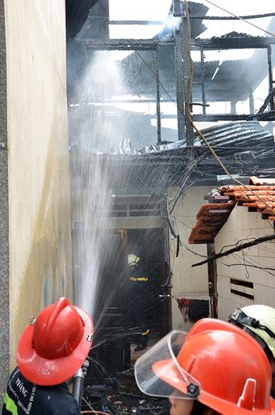 Hiện trường vụ cháy nhà xảy ra vào chiều 20/7